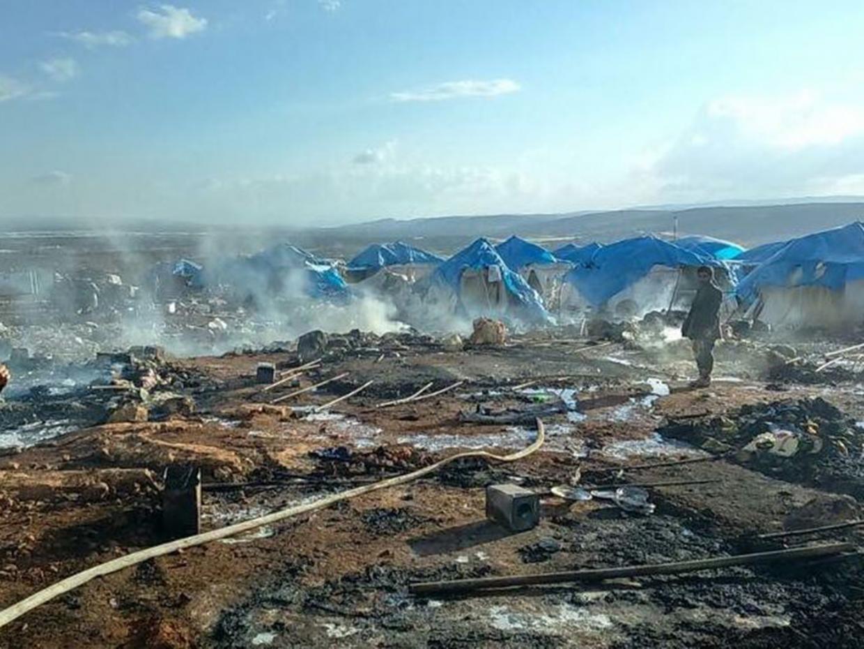 campo de refugiados destruido