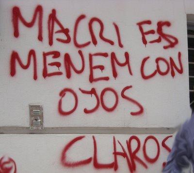 Pintada Macri Menem