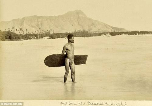 First Photo of Hawaiian Surfer