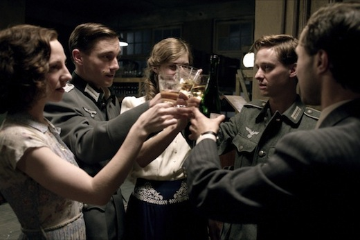 Programme Name: Generation War - Our Mothers, Our Fathers - TX: n/a - Episode: Ep 1 (No. 1) - Picture Shows:  Greta (KATHARINA SCH√úTTLER), Wilhelm (VOLKER BRUCH), Charlotte (MIRIAM STEIN), Friedhelm (TOM SCHILLING), Victor (LUDWIG TREPTE) - (C) ZDF - Photographer: -