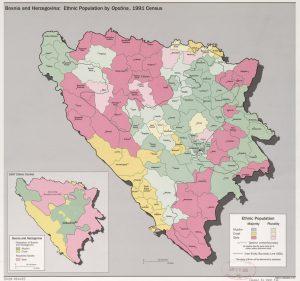 Mapa Bosnia